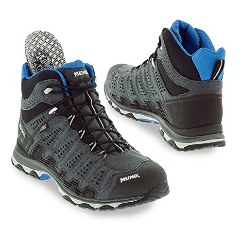 Meindl Chaussures X-SO 70 Mid GTX Surround Homme - anthracite/bleu 46