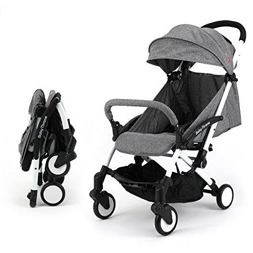 sillas de paseo ligeras carritos de bebe plegable carro bebe de viaje por 0-5 años (Gris)