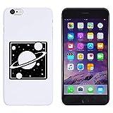 Weiß 'Quadrat Saturn Planet' Hülle für iPhone 6 Plus & 6s Plus (MC00140790)