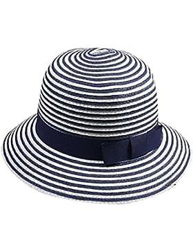 YOUJIA Sombreros de Paja de Sol Para Mujer, Moda Raya Playa Gorra del Verano
