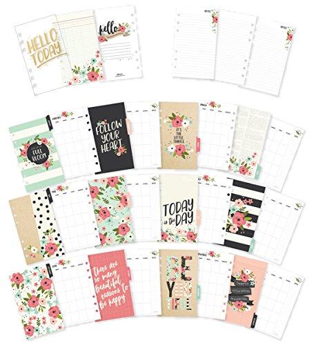 Simple Stories Carpe Diem Bloom doppelseitig Persönlichen Planer fügt, mehrfarbig, 20,95X 10,92X 0,68cm (Planner Personal)