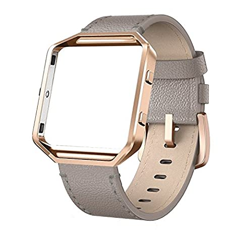 Fitbit Blaze Straps Leather Band - Yutior Genuine Leather Strap