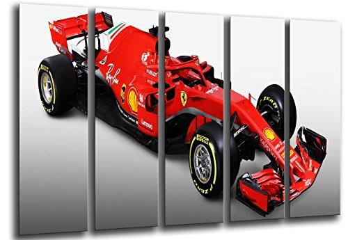 Modernes Fotobild Motiv Formel 1, Ferrari F1 SF71-H, Ferrari F1 2018, Sebastian Vettel, Kimi Raikkonen, 165 x 62 cm, Ref. 27114