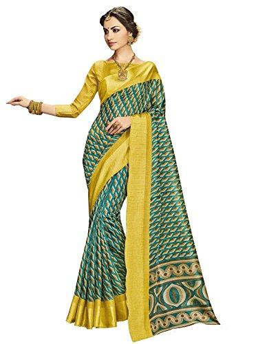 Ethnicjunction Latest Collection of Designer Sarees - Chevron Printed Kota Silk Saree...