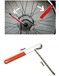 Bioings (TM) Kits de Herramienta Bicicleta Cadena de Herramientas conveniente Remover Cassette piñones Desmontaje Whip Pedalier Reparación Llave yc058-sz