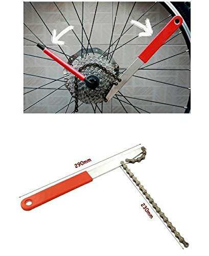 boldscript (TM) Outil Kits Vélo Outils Chaîne pratique pour cassette Roue libre Fouet Démontage Réparation Support bas Clé yc058-sz