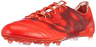adidas F50 Adizero Firm Ground (Leather), Chaussures de Football Homme - Rouge (Solar Red/FTWR White/Core Black), 41.67 EU
