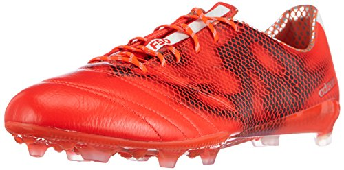 Adidas F50 Adizero Firm Ground (leather), Chaussures de Football Homme Rouge (solar Red/ftwr White/core Black)