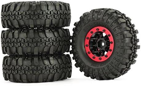 4pcs AX 4020-2 110mm 1.9in Caoutchouc des pneus pneus pneus avec Jante de Roue en Alliage Beadlock pour AXIAL SCX10 90046 Rc4wd D90 1/10 RC Rock Crawler Voiture | Premiers Clients  0c3e7e