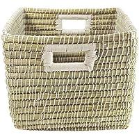 GRUENER Comercio Cesta para estanterías/Flechtwaren Cesta Rectangular | kaisa Gras | Mano | Comercio