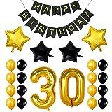 Ezeso 30th Geburtstag Theme Party Dekorationen Kit, Cheers zum 30. Geburtstag Banner, für 30 Jahre Party Party Party Supplies
