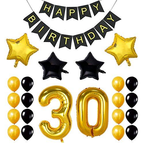 Ezeso 30th Geburtstag Theme Party Dekorationen Kit, Cheers zum 30. Geburtstag Banner, für 30 Jahre Party Party Party Supplies - Kit 30. Geburtstag Supplies Party