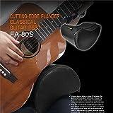 Paracity Guitare Coussin Portable PU Cuir Coque Flanger Fa-80s profilée Guitare Coussin Intégré éponge -- Noir