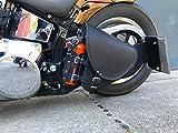 Diablo Black Schwingentasche Harley Davidson Satteltasche schwarz Getränkehalter HD Seitentasche Linke Seite Dragstar Wildstar ORLETANOS Ledertasche Tasche