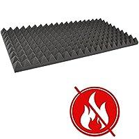 Akustik Schaumstoff Pyramiden Schall FSE FMVSS Schallschutz n. brennbar 90x45x6 P085