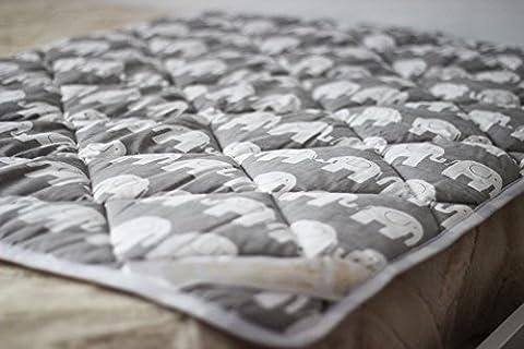 Merino Wolle Kinder Bettdecke 90 x 120 cm 8-10tog 450gsm Schurwolle Übergang 90 x 120 cm