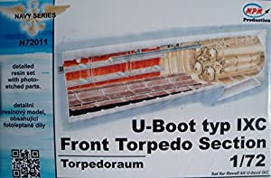 CMK n72011Torpedo Submarino Tipo IX-Modelo Accesorios Frente sección F Reglamento