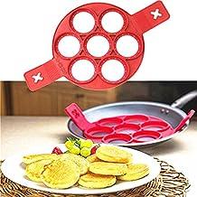 Antiadherente Flippin Fantástico Antiadherente Pancake Maker Fabricante Anillo de Huevo Cocina