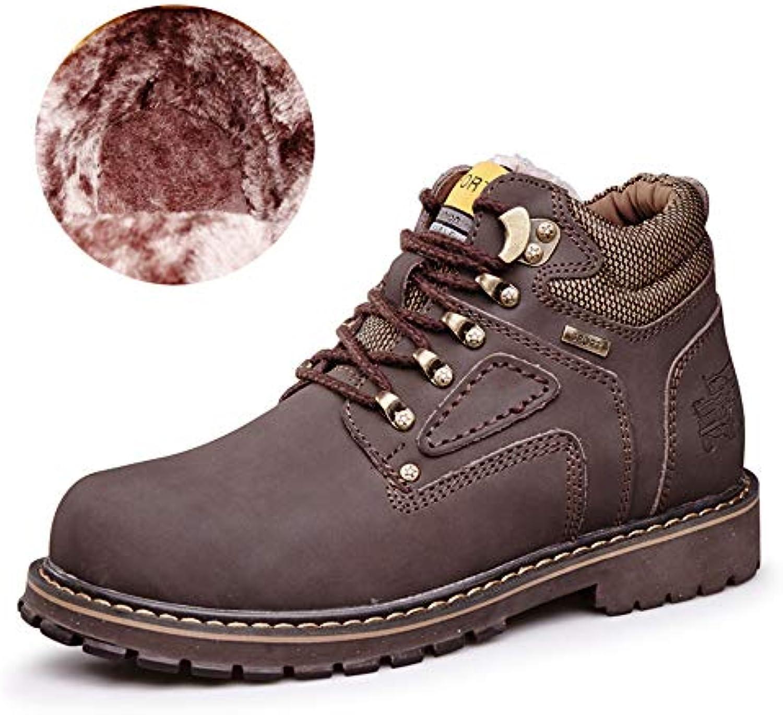 Shufang-scarpe Shufang-scarpe Shufang-scarpe Stivaletti da Uomo, Casual Classic Round Top High Top Cotton Warm Outsole Work scarpe (Convenzionale... | Nuovo design diverso  94525c
