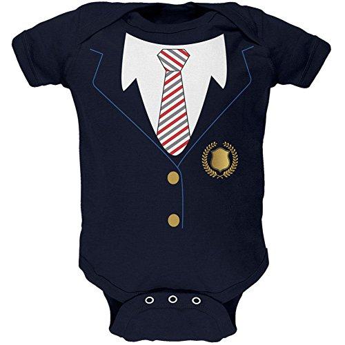 Halloween Kostüme Private School (Halloween amerikanischen Schulmädchen Kostüm weiches Baby Einteiler Marine 0-3)