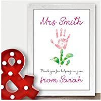 Teacher Thank You Gift - Unique Present for Female Teacher End of Term Year - Best Teacher Gift - Thank You Gifts for Teachers, Teaching Assistants, TA, Nursery Teachers - ANY RECIPIENT from ANY NAME - A5, A4, A3 Prints and Frames - 18mm Wooden Blocks - FREE Personalisation