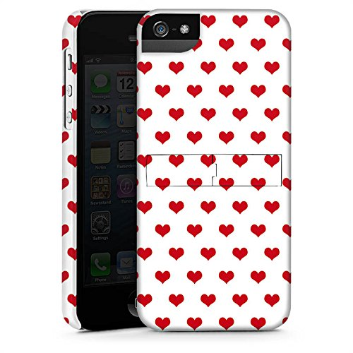 Apple iPhone X Silikon Hülle Case Schutzhülle Polka Herzen Herzchen Oktoberfest Premium Case StandUp