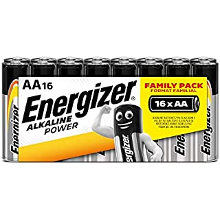 Energizer AA Batteries, Alkaline Power Double A Batteries, 16 Pack