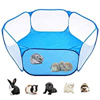 Baiwka Guinea Pig Foldable Playpen, Small Animals Cage Tent Exercise Fence, Portable Yard Fence With Mat Playpen Perfect Size For Hamsters, Chinchillas, Hedgehog, Puppy, Cats