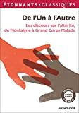 De l'Un à l'Autre : Les discours sur l'altérite, de Montaigne à Grand Corps Malade