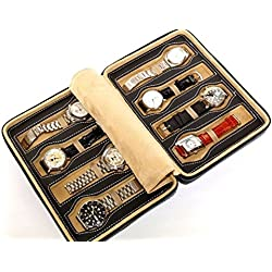 Zipper case for 8 Watches