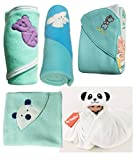 MY NEWBORN Baby Blanket & Baby Wrapper - Gift Pack Hamper Value Pack - 5 pcs. wraps