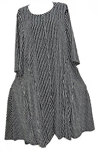 Bella Blue Damen Kleid schwarz schwarz Schwarz / Weiß