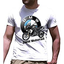 Camiseta de manga corta BMW Motorrad GS impresos a mano