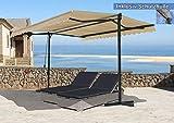 Standmarkise London 4x4m Sand mit Schutzhülle