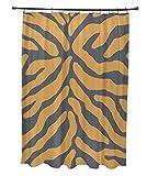 E von Design Animal Streifen Vorhang für die Dusche, Polyester, grau, Standard