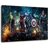 Formato dei Marvel Heroes 100x70 cm dipinto su tela, XXL Immagini enormi completamente Pagina con la barella, incorniciatura sulla foto muro con telaio
