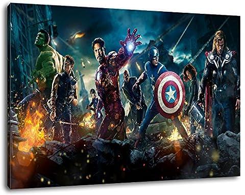 Marvel Heroes Taille 120x80 cm peinture sur toile, XXL énormes images complètement encadrées avec civière, le mur cadre photo de