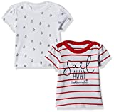#3: Mothercare Baby Girls' T-Shirt (Pack of 2) (H6324-1-multicoloured_3-6 M)