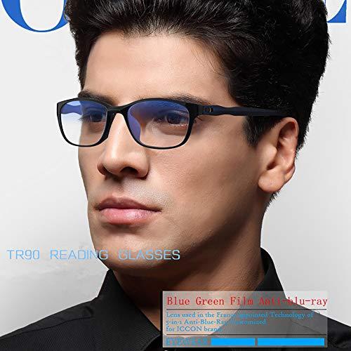 YJHW Voll Rahmen Rechteckig Klare Gläsern Optische Stärke Rahmen Brillenfassung Nerd Brille,Blue