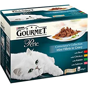 Gourmet Perle Connoisseurs Collection in Gravy, 12 x 85 g - Pack of 4