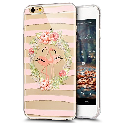 iPhone 8 Hülle,iPhone 7 Hülle,iPhone 7/iPhone 8 Schutzhülle Marmor,SainCat Silikon Hülle [Kratzfeste, Scratch-Resistant] Tricolor Marmor Muster Handyhülle Ultra dünne Silikon Hülle Schutzhülle Durchsi Flamingo Girlande