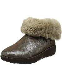 FitFlop Mukluk Shorty 2 Shimmer Boots, Bottes Classiques Femme, Noir
