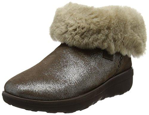 Boot Schuh Mukluk (FitFlop Damen Mukluk Shorty 2 Shimmer Boots Kurzschaft Stiefel, Brown (Bronze), 39 EU)