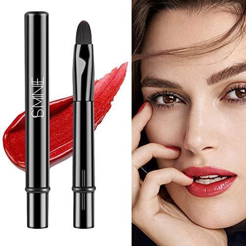 Mkiki 2pcs Lippenpinsel Stift Abgerundetem Köpfe Schönheit Kosmetik Werkzeuge