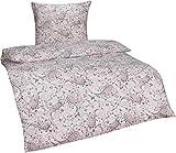 Bettwaesche-mit-Stil Warme Fein-Flanell Winter Bettwäsche Vintage/Retro Blumen o. Paisley Muster (135 x 200 cm + 80 x 80 cm, Paisley weiß/Rosa)
