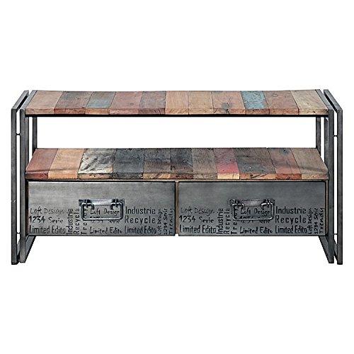 massif rustique en bois recyclé moderne antique fait à la main T.V support