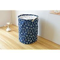 Dushow grande pieghevole portabiancheria cesto portaoggetti per sporco clothes-3colori, Blue, taglia unica