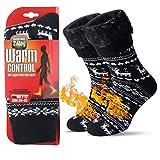 JARSEEN Térmicos de Invierno Calcetines de Lana Super Calor Gruesa Calentar Suave Cómodo Calcetines de Mujer Hombre