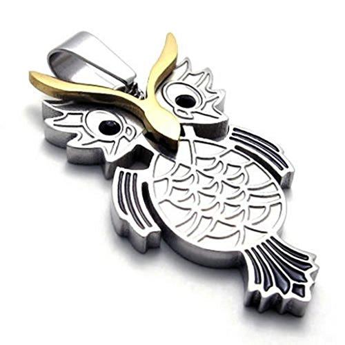 Epinki Edelstahl Herrenkette, Unisex Anhänger Halskette Gold Schwarz Silber 18 26