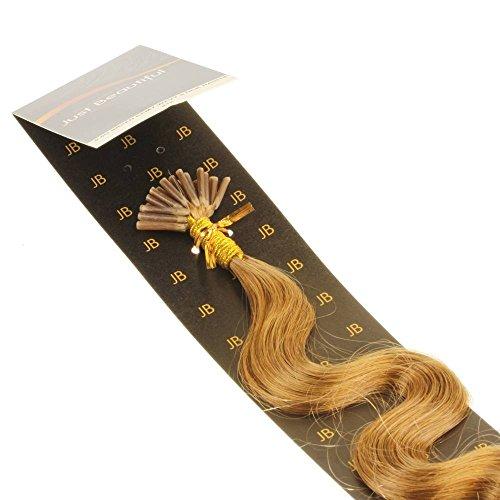 Just Beautiful Hair 50cm Micro Anello I-Stick Extensions Capelli Veri Remy Indiani, 1g, ondulata - #12 biondo miele, 1x200 ciocche